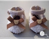 1 Pair Teddy Bear Hand Knitted Baby Shoes & Gift Box - Boy - Girl - Available in 4 different sizes - Made by Tootsietastic - MADE TO ORDER