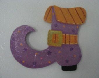Witch's boot, shoe, halloween, magnet, ornament, home decor
