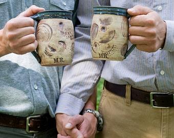 Mr and Mr mugs - Mrs and Mrs mugs - Gay Couple - Same Sex Couple - Wedding Mugs
