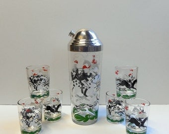 Hunt Scene Cocktail Shaker