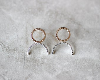 Circle + Arch Studs, Simple Earrings