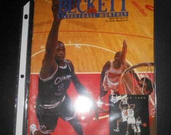 1993 Beckett Basketball price guide magazine  Shaquille O'Neal rookie year orlando magic