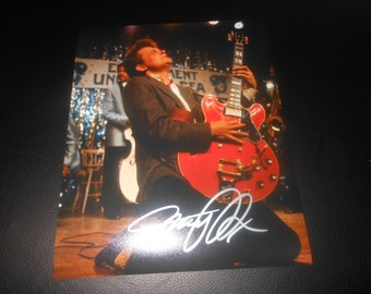 Michael J Fox hand signed 8x10 photo Back To The Future autograph 80s movie johnny be good