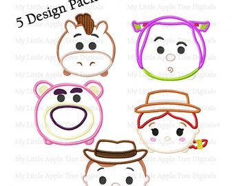 Toy Story Tzum 5 Pack - Embroidery Machine Design Applique 4x4 5x7 6x10 INSTANT DOWNLOAD