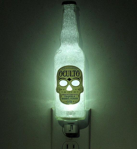 Oculto Beer 12oz Night Light Skull Occult Day of the Dead
