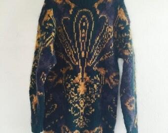Cozy Vintage Boyfriend Sweater Oversized Long