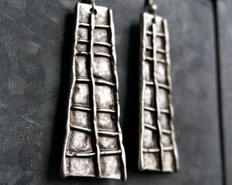 Karina Silver Earrings Tribal Earrings Boho Jewelry