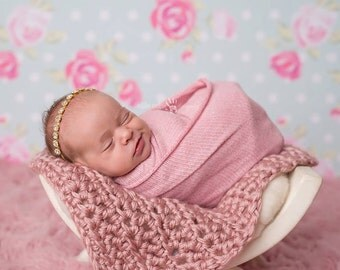 Rhinestone Headband, Baby Headband- Gold Rhinestone Headband Photography Prop
