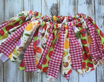 Rag skirt, fabric strip skirt, farmers market skirt, girls birthday outfit, bandana skirt, girls skirt, toddler skirt, fabric tutu skirt
