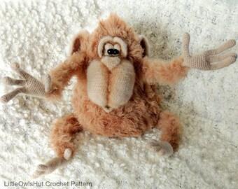 086 Monkey Orang-utan Gunya - Amigurumi Crochet Pattern PDF file by Pertseva Etsy