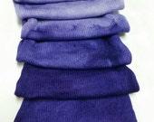 Saturated Sock Blank Purple Gradient