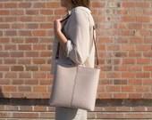 SALE - Felt small CROSSBODY BAG with leather strap / crossbody purse / small shoulder bag / felt bag / wool felt / made in Italy