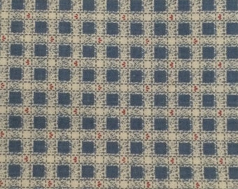 Cotton Fabric / Blue Cotton Fabric / Country Blue Fabric / Heart Fabric / Fabric Traditions / Quilting Fabric