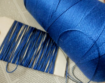 COTTON CORD TWINE 10 yds Royal Blue Thin Strong Natural