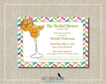Printable Bridal Shower Invitation - Margarita Bridal Shower - Custom Color