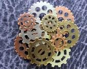 Steampunk Gear Brooches, Steampunk Gear Pins, Gear Pins, Gear Brooch, Multi Colored Gears, Unisex Jewelry, Men's Jewelry, Steampunk Men