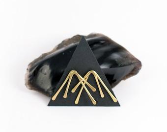LEDA Brass Stud Earrings - LARGE | Gold Studs | Sterling Silver Posts | Minimal Jewelry | Bar Studs | Stick | Gold Bar Earrings | Metalwork
