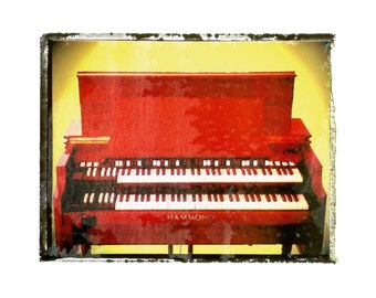 Hammond B3 organ music art print / music gift / rock n roll art / music room decor / guitar gift / man cave art