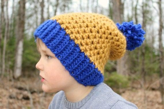 CROCHET PATTERN Slouchy Beanie Hat Crochet Pattern Ribbed