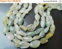 20 off. 8 Inches Long Strand Natural Multi Aquamarine Faceted Nuggets Tumble Size 13-19mm Approx.