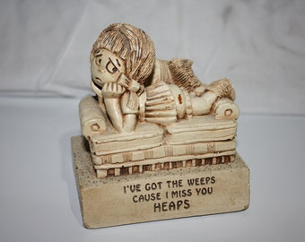 "Paula Figurine, ""I've Got the Weeps..."", Vintage 1970s"