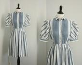 CLEARANCE SALE 1980s dress | vintage 80s shirtwaist dress