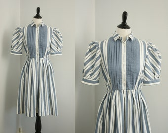 1980s dress | vintage 80s shirtwaist dress