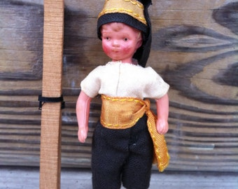 Doll House Doll with Skis