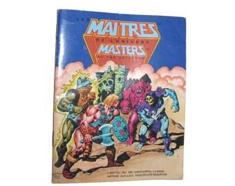 He Man Masters of the Universe MOTU Mattel mini Book 1981 bilingual French Maitres de L'Universe heman
