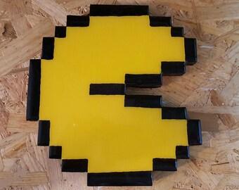 Wooden 8 Bit Game Art Pac Man - The 3A Workshop