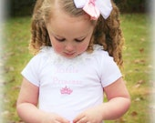 Princess Dress - Girls Eyelet Princess Dress - Includes Matching Hair Bow -  12 months to 6 years
