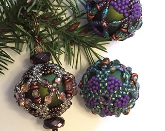 Lantern Ornament Beaded Beads PDF Tutorial