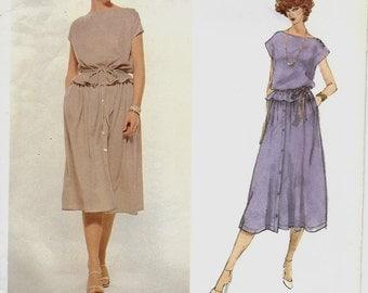 Vogue 1897 American Designer Bill Blass Top, Skirt & Belt Pattern, Size 14, UNCUT