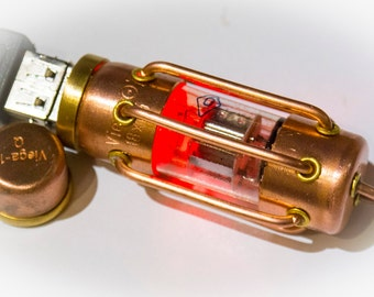 USB Flash drive 64 GB USB 3.0 steampunk pentode