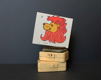 Vintage 1970s KopyKake Design Template Flashcard Leo Zodiac Sign Astrology