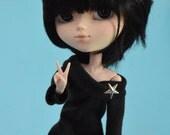 off the shoulder T-dress for 27cm dolls, obitsu, pullip