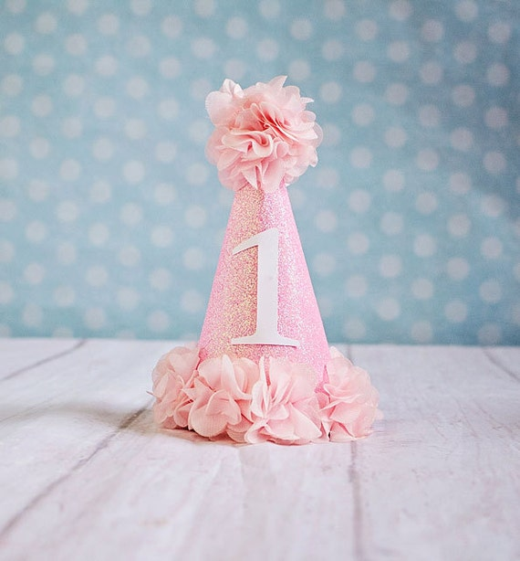 Girl Birthday Hat..1st Birthday Hat...First By