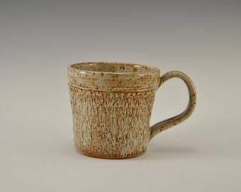 Stoneware coffee mug, pottery tea cup, handmade ceramic mug