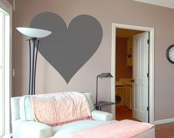 Deluxemodern Heart Wall Decal - Heart Decal, Heart Stickers, Heart Wall Decor, Modern Nursery Decal, Heart Art, Heart Wall Art, Heart