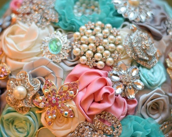 Satin Flower Brooch Bouquet