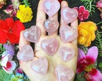 ROSE QUARTZ HEART Pocket stone