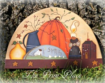Fall Door Crown ~ Fall Decor ~ Fall Door Topper ~ Autumn Decor ~ Fall Wall Hanging ~ Primitive Fall Decor ~ Thanksgiving Decor ~ Door Decor