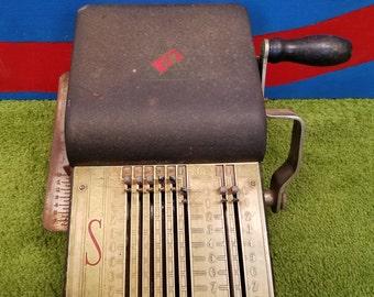 Vintage 1930 1940 Safeguard Check Writer Inprinter Functions
