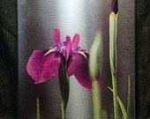 Glass Cutting Board Large - Iris Laevigata - 12 in x 15 in