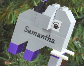 SALE** Personalized Purple Elephant Christmas Ornament