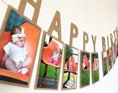 Happy Birthday Photo Banner / First Birthday Photo Banner / First Birthday Banner / Happy Birthday Banner / Photo Birthday Banner