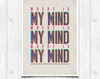 20% OFF!! Pixies lyrics - Music poster Music print Lyrics Print