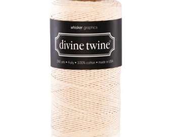 Natural/Ivory - Solid - Divine Twine - 20 yards
