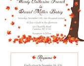 Custom listing wedding invitations