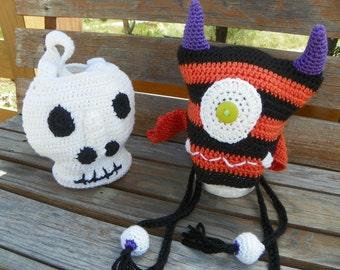 Crocheted Skull Bag